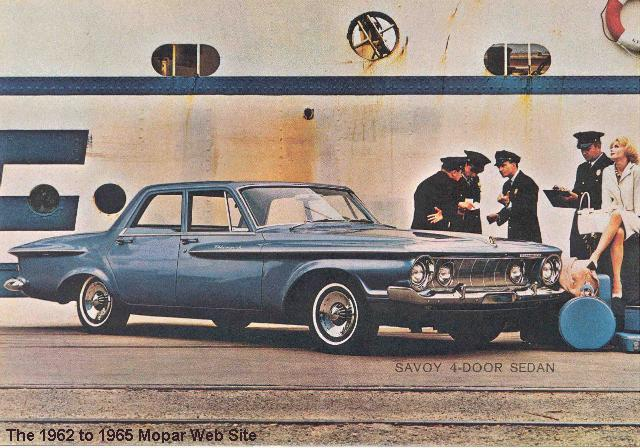 1962 Plymouth post card front