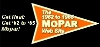 1962 to 1965 Mopar Logo, based on early 1960's Mopar Logo