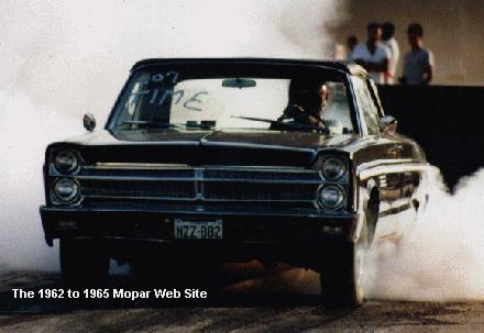 1965 Plymouth Fury burn out