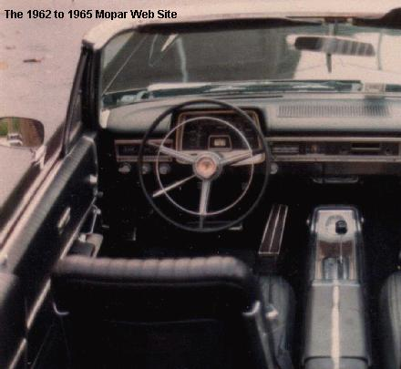 1965 Plymouth Fury old interior