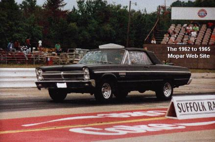 1965 Plymouth Fury at drags