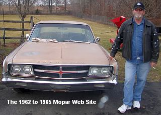 1965 Chrysler 300 front and Eddie, owner