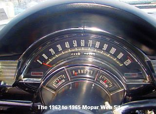1965 Chrysler 300 speedometer