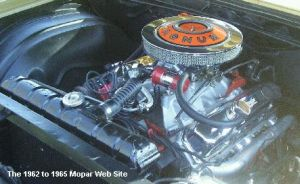 1965 Plymouth Sport Fury engine