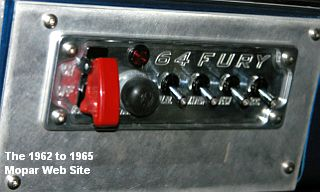 1964 Plymouth Fury, switches on dash