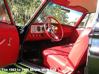 1964 Plymouth Belvedere, front interior and dash