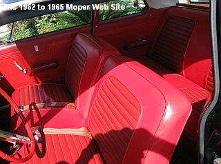 1964 Plymouth Belvedere, interior view of front seats