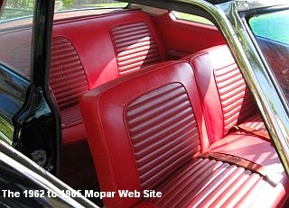 1964 Plymouth Belvedere, interior view of rear seats