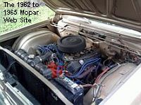 1965 Plymouth Fury III, 383 engine