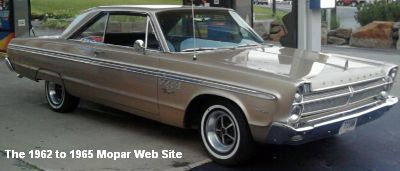 1965 Plymouth Fury III, passenger side