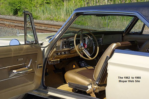 1965 Plymouth Satellite, front interior