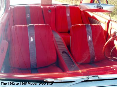 1963 Plymouth Fury front interior