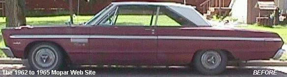 1965 Plymouth Fury III before restoration