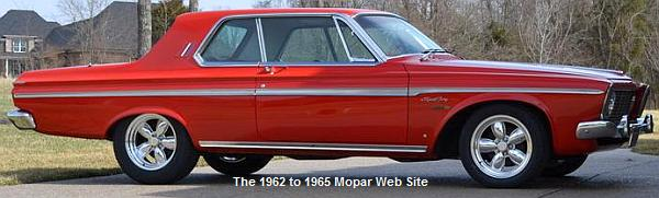 1963 Plymouth Sport Fury passenger side