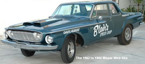 1962 Dodge Dart: Blair's Speed Shop driver side in 2009
