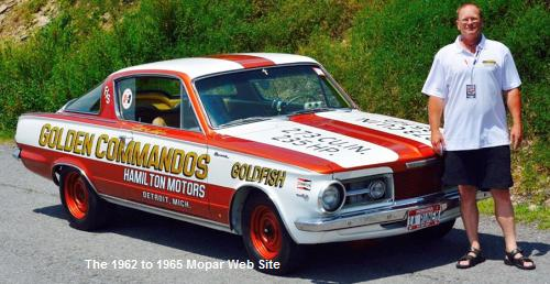 1965 Plymouth Barracuda, GOLDFISH and Bruce Lindstrom