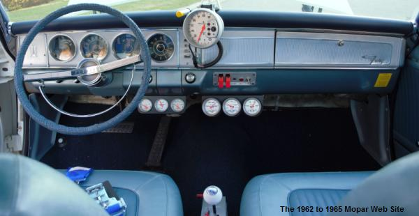 1964 Plymouth Fury, front interior