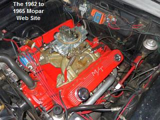 1963 Plymouth Sport Fury engine