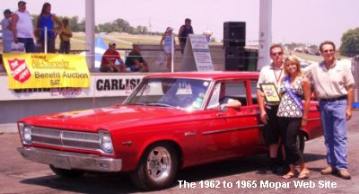 1965 Plymouth Belvedere I receives award