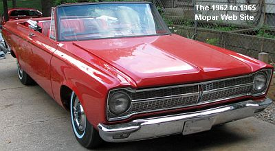 1965 Plymouth Satellite convertible, front