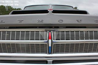 1965 Plymouth Satellite front grille close view