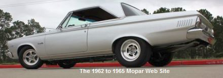 1965 Plymouth Satellite driver side rear view