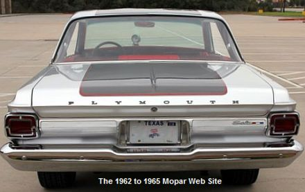 1965 Plymouth Satellite rear view