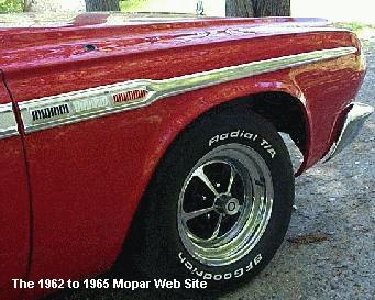 1964 Plymouth Sport Fury pass front fender