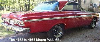 1964 Plymouth Sport Fury rear pass side