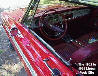 1964 Plymouth Sport Fury driver interior