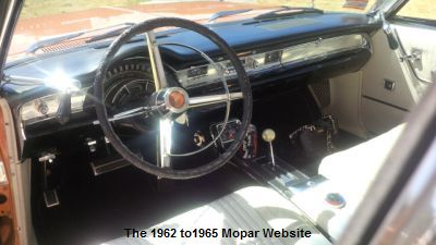 1965 Chrysler 300L dash and interior
