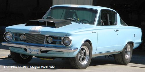 1965 Plymouth Barracuda with hood scoop