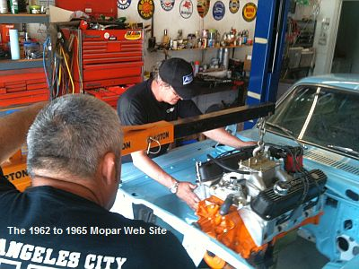 1965 Plymouth Barracuda, stroker engine install