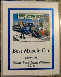 1964 Plymouth Fury Best Muscle Car Plaque