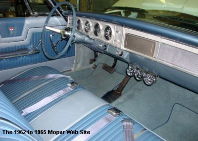 1964 Plymouth Fury interior