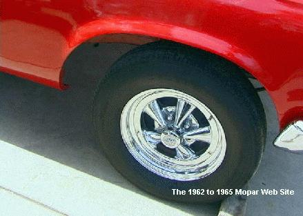 1965 Plymouth front tire