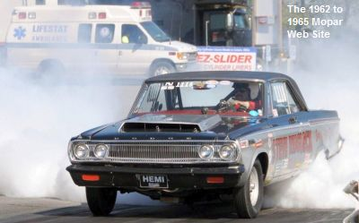 Reasbeck: 1965 Dodge drag race burn out