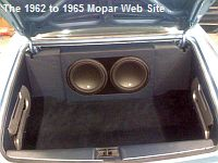 1962 Chrysler New Yorker, trunk sound system
