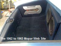 1962 Chrysler New Yorker, trunk sound system, side