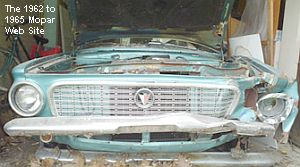 1963 Plymouth Valiant wrecked