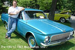1963 Plymouth Valiant passenger side front view and Rob!