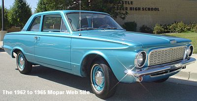 1963 Plymouth Valiant restored and at high school reunion