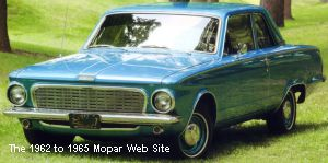 1963 Plymouth Valiant in the park