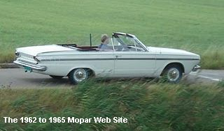 1965 Dodge Dart 270 convertible on The Neatherlands highway