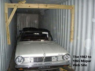 1965 Dodge Dart 270 convertible in sea container