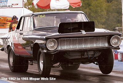 1962 Plymouth wheels up