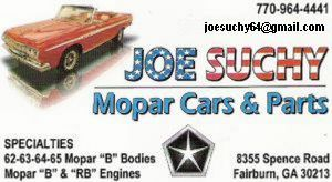 Joe suchy business card